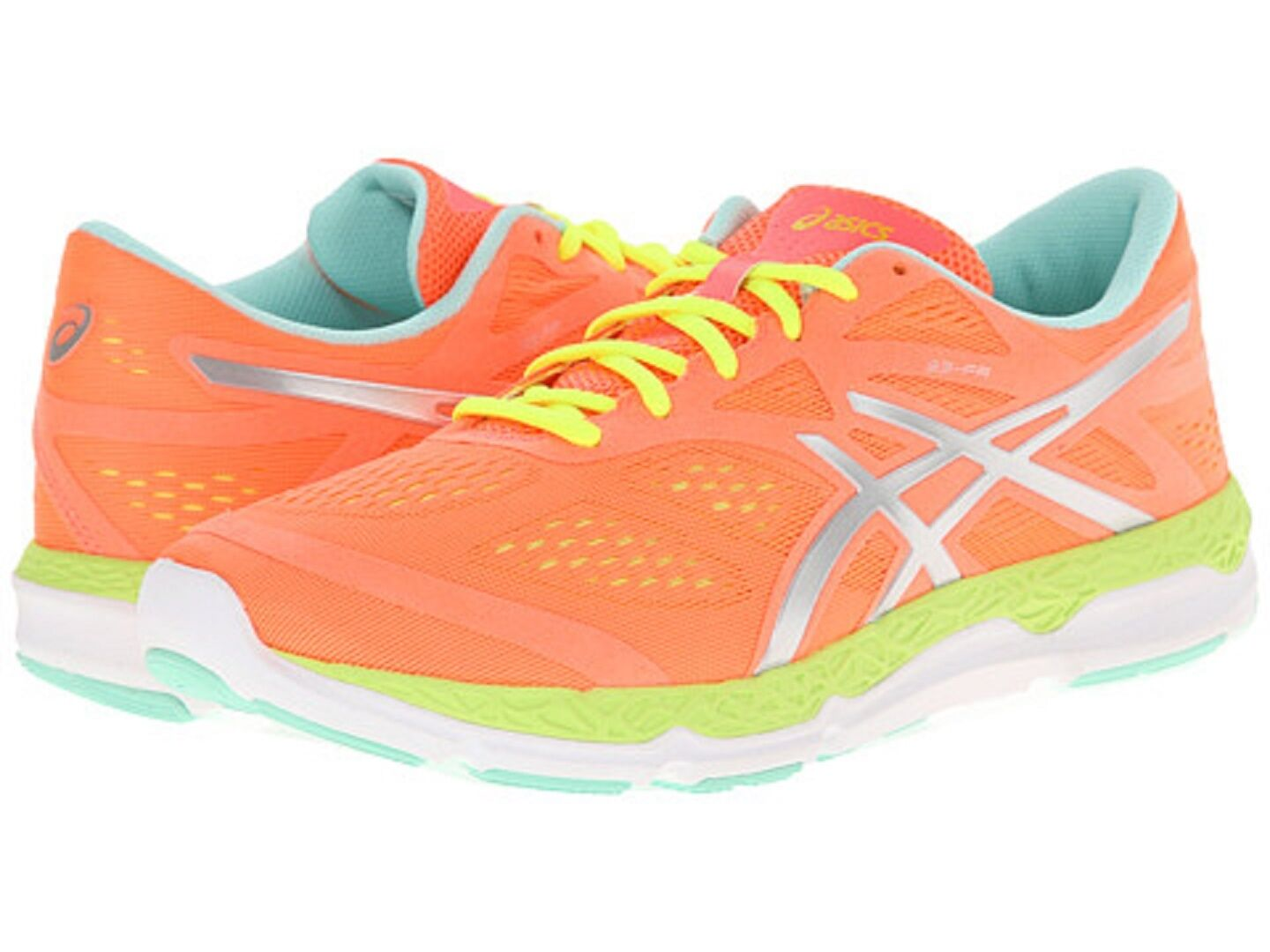 ASICS T583N.3107 33 DFA Wmn's (M) Coral Yellow Yellow Yellow Mesh Synthetic Running shoes 13f365