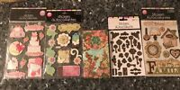 Handmade Wedding Lot 50+some3d Scrapbooking Stickers+ Punch Studio 75 Sheet Pad