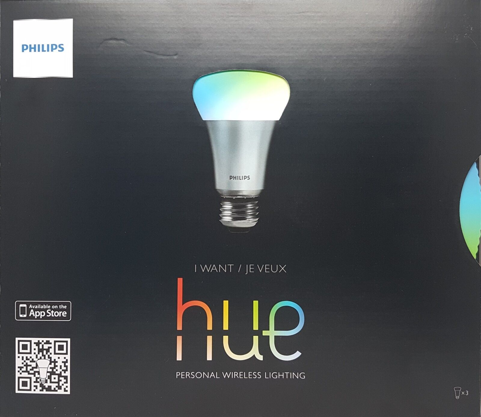 Philips hue-led personal Wireless Lighting - 3 x 9w a60 e27-Starter Kit