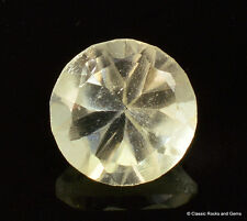 Libyan Desert Glass AAA Faceted Gem Cut Meteorite Impactite 1.40 ct 7.6 mm