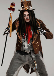 e34b134c340 Details about Mens Voodoo Witch Doctor Brown Tailcoat Jacket