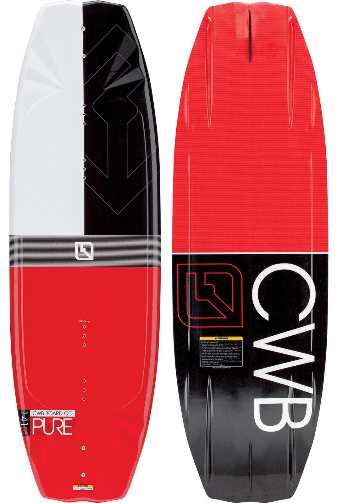 Cwb Tavoletta Co. Pura Uomo Uomo Uomo Utente Friendly Wakeboard 141cm Bianca Nera Rossa 268585