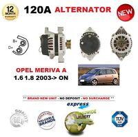 für Opel Meriva A 1.6 1.8 2003- > NEU 120A Lichtmaschine 12V Einheit Original
