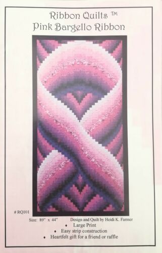 Quilt-Pattern-Ribbon-Quilts-034-Pink-Bargello-034-by-Heidi-Farmer