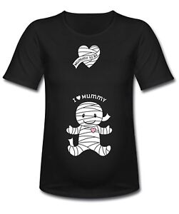 I-Love-Mummy-Halloween-Women-039-s-Longer-Length-Maternity-T-Shirt-Size-Large