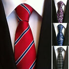 New Classic Blue Black Red Purple Check 100%Silk Jacquard Woven Necktie Mens Tie