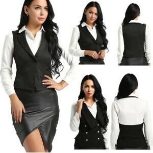 Women-Slim-Fit-Suits-V-Neck-Formal-Jacket-Work-Dressy-Vest-Business-Dress-Suits