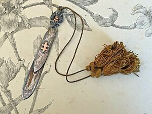 Ancien Coupe Papier à décor de croix de lorraine - Aigle couronné