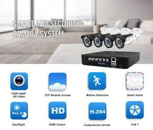 Protect your Property !!!Smar 4CH CCTV HDMI DVR 4PCS 720P 1080P AHD Camera Kit Outdoor WeatherproofFree Fast Shipping Canada Preview