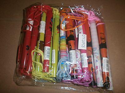 Posten 5 Kinder Kugelschreiber mit Halsband - Mitgebsel Kindergeburtstag