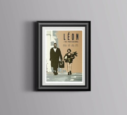 Art A5 A4 A3 Leon Inspired Retro Movie Print// Poster Digital Art Film Poster