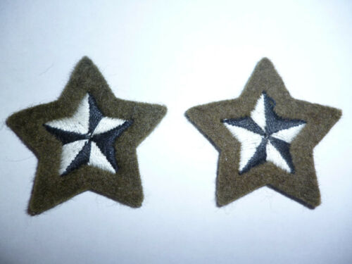 LOT OF 2 BRITISH ARMY COURSE REPORT DISTINCTION STARS.
