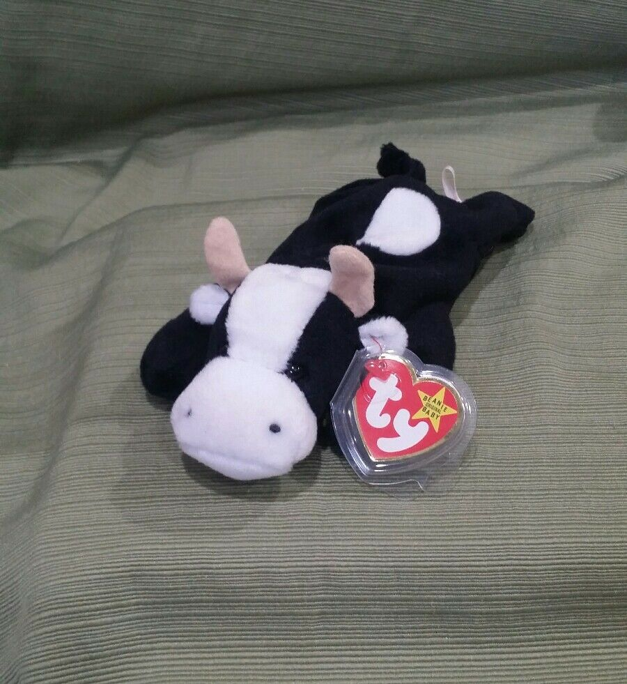 Ty Beanie Baby Daisy the Cow w Errors 1993 PVC  Style 4006  MWMT RETIRED