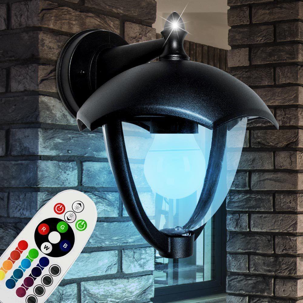 Lampe murale LED RGB lanterne de jardin à distance ALU dimmable lampe extérieure