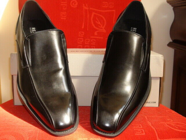 Kenneth Cole Reaction Men's Dress Shoes size 11,5 M Black Solid Leather lining