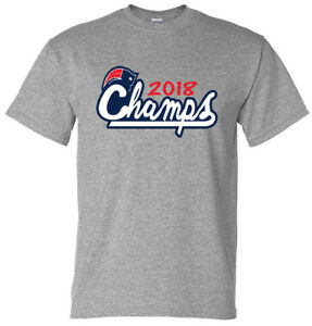 5856b128 GRAY Tom Brady New England Patriots 2018 Super Bowl Champs T-Shirt ...