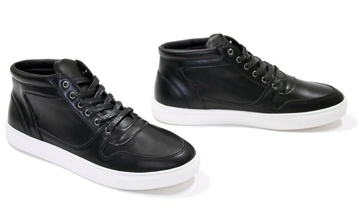 Miko Lotti Men's Oxford High-Top Black Sneakers BM2013