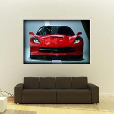 Chevy Corvette C7 Stingray LT1  Giant Poster Super Car Huge Print 54x36 Inches