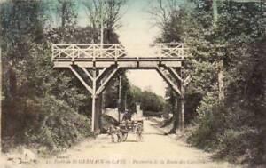 78-cpa-Foret-de-SAINT-GERMAIN-Route-des-Carrieres