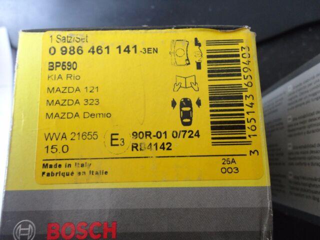 Mazda Demio 121 323 Kia Rio BREMSKLÖTZE BOSCH 0986461141 Vorderachse