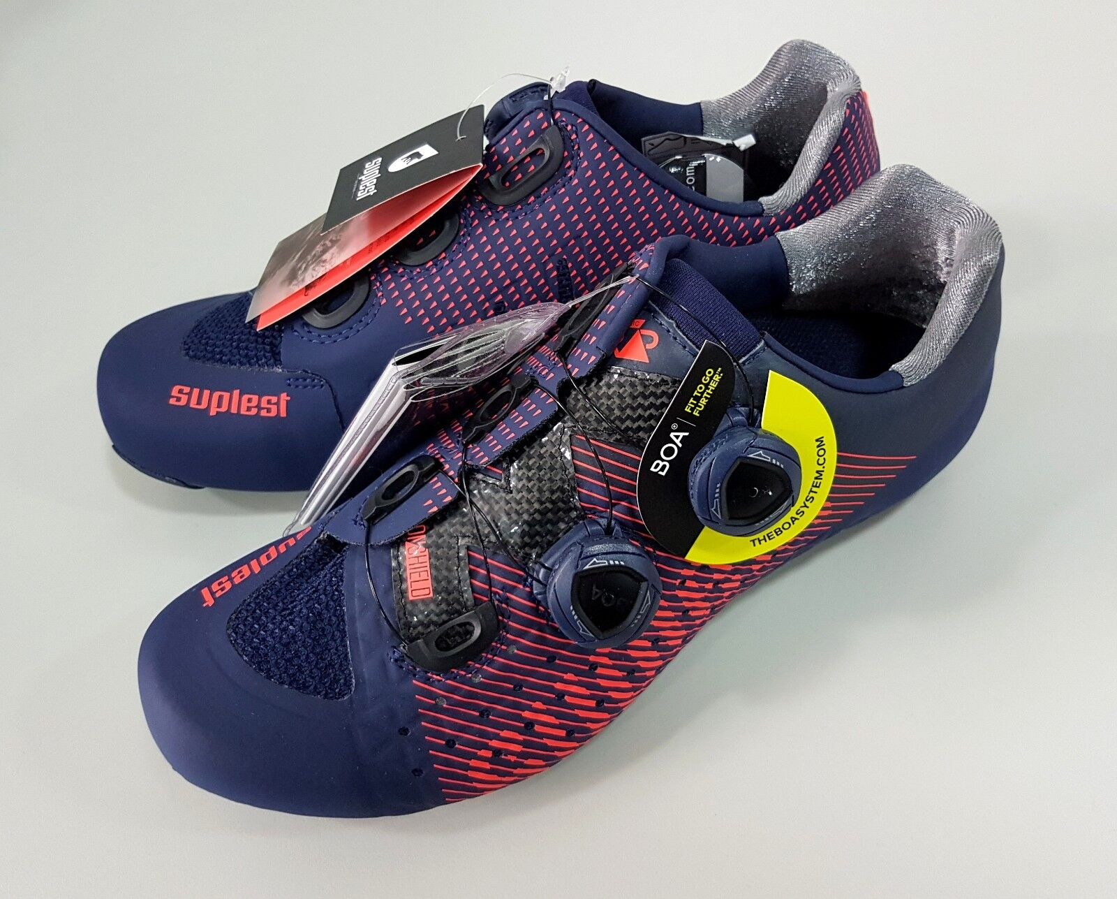 Suplest Edge 3 Pro Road Carbon  Bicycle Cycling shoes Size 40 Navy Coral  convenient