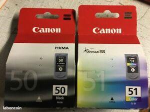 Cartouches Canon PG-50 CL-51 neuves