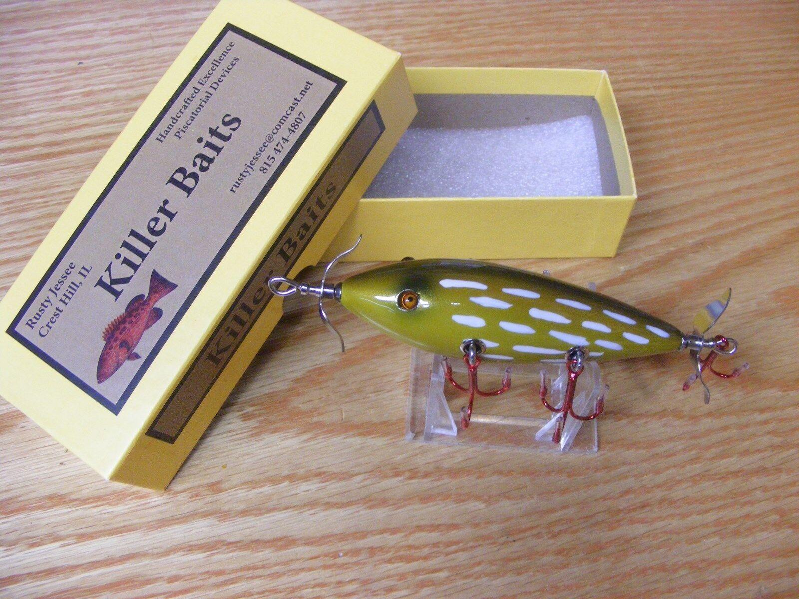 Killer Baits  Rusty Jessee Heddon 300 Style Glasseye 5 Hooker Northern Pike color  discount sales
