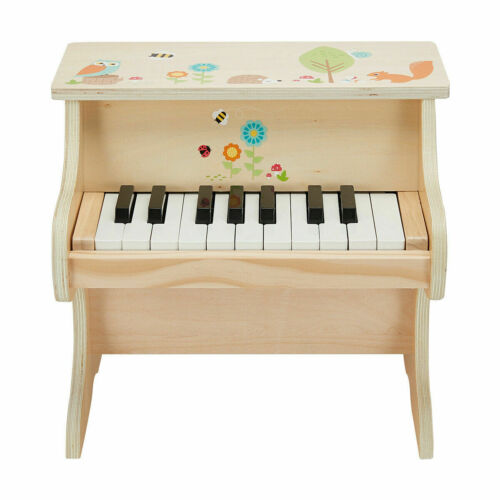 Wooden Kids Grand Piano Children Mini Musical Toy 18 Keys Piano For Xmas Gift S1
