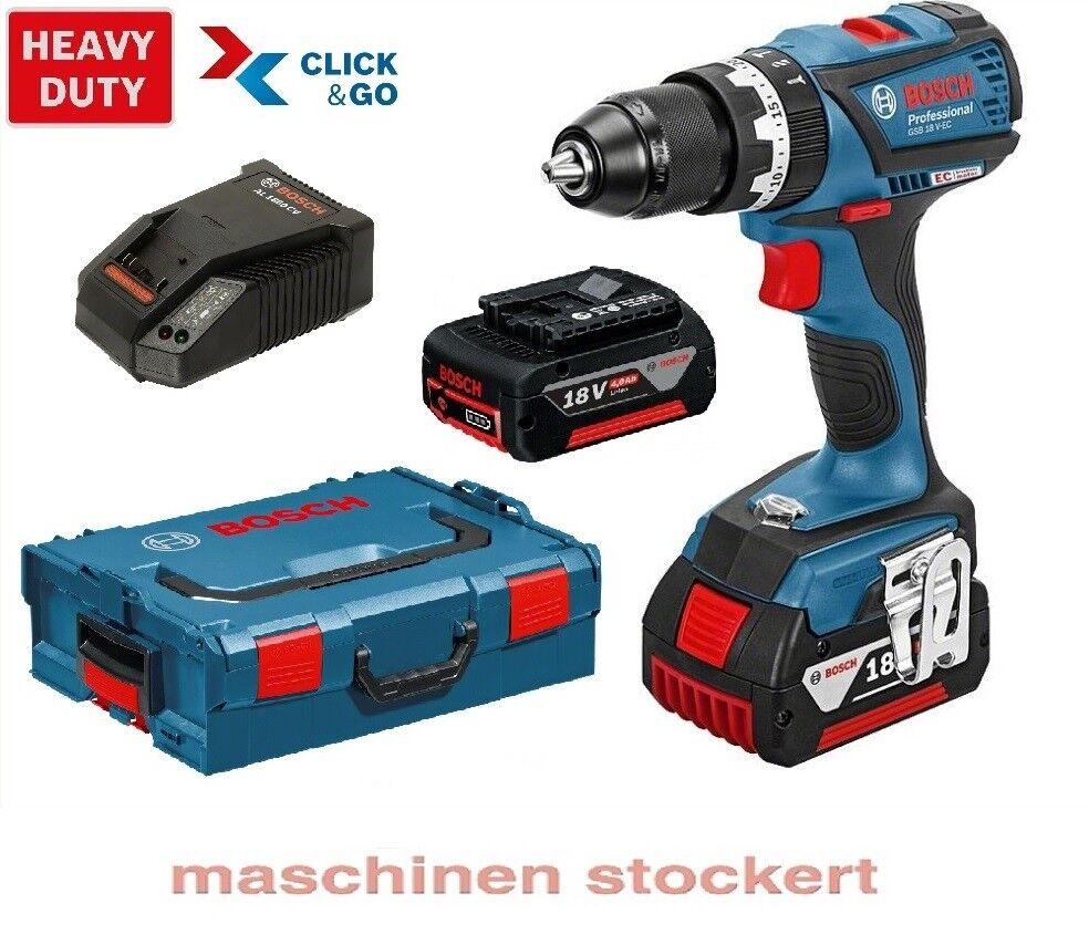 Bosch Akku Schlagbohrschrauber GSB 18 V-EC mit 2x 4,0 Ah Akku 06019E9101