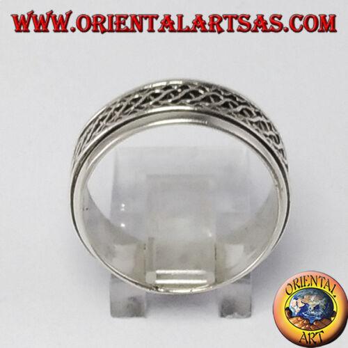 decorazione intreccio di onde Anello girevole d/'argento 925 ‰ Antistress