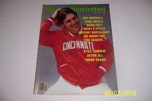 1981-Sports-Illustrated-Cincinnati-Reds-Tom-Seaver-sin-Etiqueta-News-Soporte-Ny