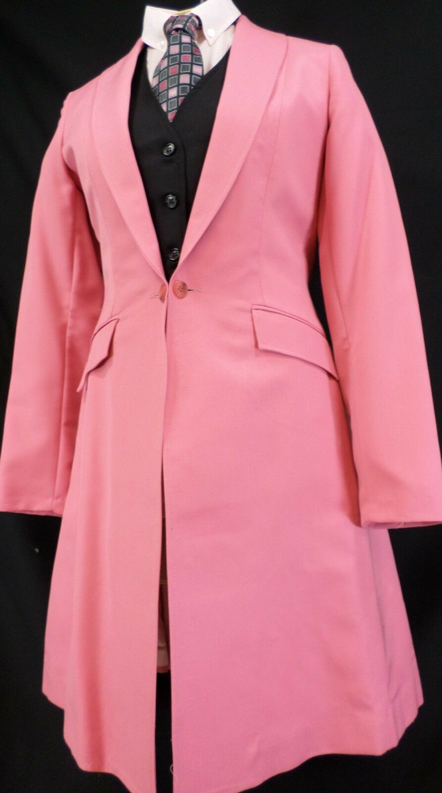 Reed Hill Ladies Saddleseat Day Coat ROSE rosa Poly / Wool Blend size 16 - USA