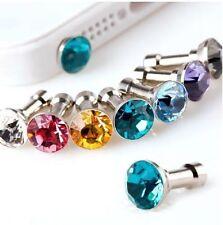 10 Pieces Luxury Diamond Earphone Anti Dust plug Cap for any 3.5mm Mobile Tab