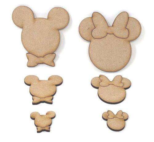 diversión niños Mickey y Mini Mouse Cabeza de Mickey y Mini Mouse De Madera Craft formas