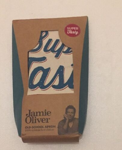 """JAMIE OLIVER /"""" Old School Apron/"""" 100/% Unbleached Cotton Brand New"""