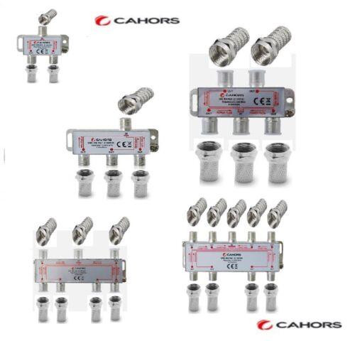 Repartiteur Antenne TV   2 ou 3 ou 4 ou 6 ou 8 directions livré avec fiche F