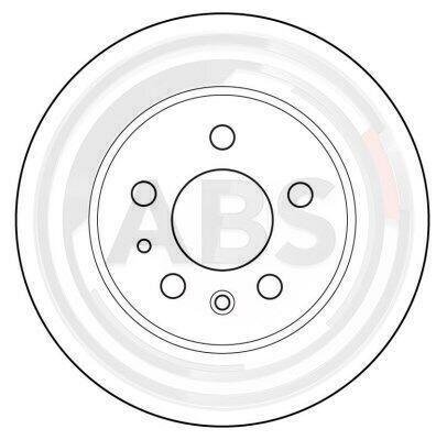 2x 15736 A.B.S Bremsscheibe für MERCEDES-BENZ