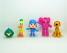 5 pcs New Pocoyo ELLY PATO Loula Sleepy bird Cake Topper PVC action figures Toy