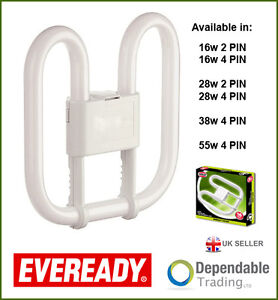 Osram CFL 2D 835 Energy Saving Square Butterfly Fluorescent 16W 28W 38W 4 Pin