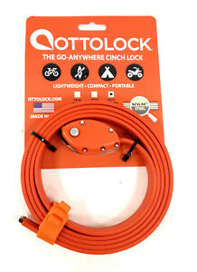 OttoLock-Cinch-Bicycle-Combination-Lock-w-Kevlar-amp-Steel-60-034-Neon-Orange