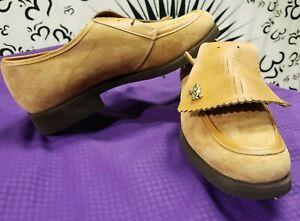 Vintage Hush Puppies Steel Shank Spike Support Women 10 5m Golf Shoe Leather Ebay
