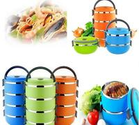 Ch:stainless Steel Lunch Box Food Thermal Insulated Container Handle 1-4 Layers