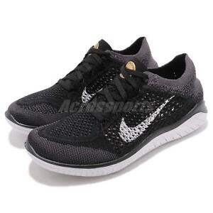 timeless design f2d33 6e1d4 Image is loading Nike-Wmns-Free-RN-Flyknit-2018-Run-Black-