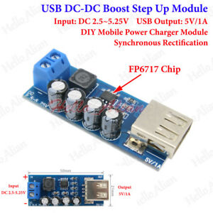 5 Pcs 3V To 5V 1A Step Up Dc-Dc Converter Usb Charger Boost Module For Phone aw