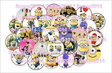 """Minions & Evil Minions mix- 1"""" round pre-cut images (40pcs)"""
