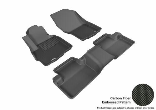 For 11-17 Mitsubishi Outlander Sport Carbon Pattern Black Custom Fit Floor Mat