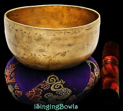 "Antique Tibetan Singing Bowl: Cup 5"", circa 18th Century, B3  & E6 .VIDEO"