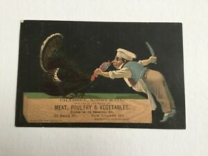 Antique-1879-Chadsey-Kirby-Trade-Card-Thanksgiving-Early-Phone-New-London-CT