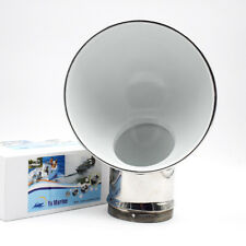"""Boat Round Cowl Vent Polished 316 Stainless Steel 11.4"""" x 8.5"""" Durable Marine"""
