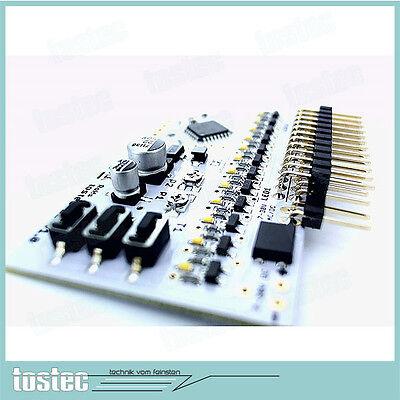 SMD 8 KANAL LED Microcontroller Platine-Programme erstellen laufen lassen EASY